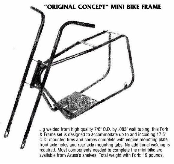 Mini Bike Frame Jig Mini-bike Frame Fork