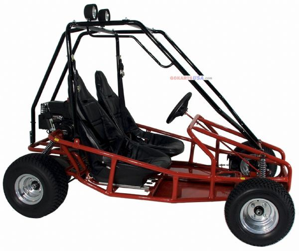 6hp Electric Start, Torque Converter, Full Suspension, 2 Adjustable Bucket Seats