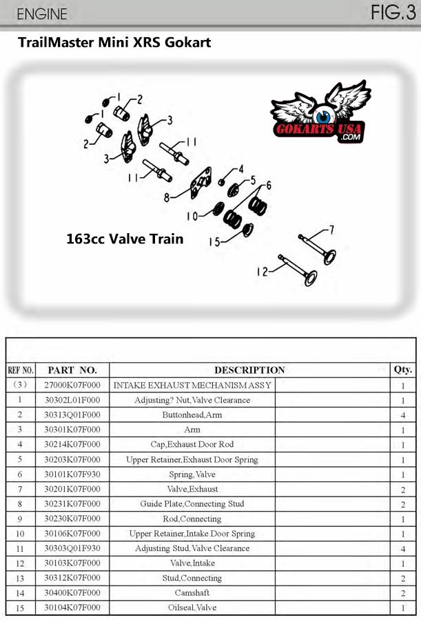 TrailMaster Mini XRS Gokart Engine Parts